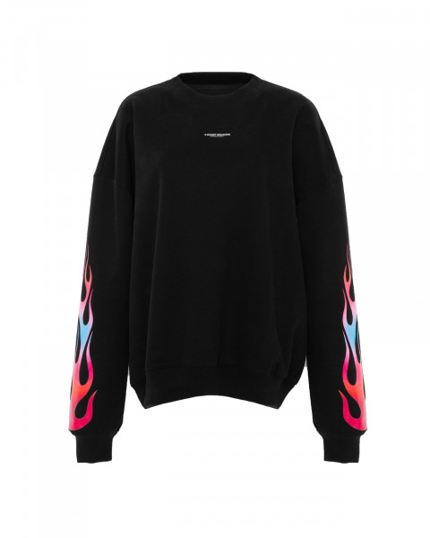 FLAMES SWEATER BLACK