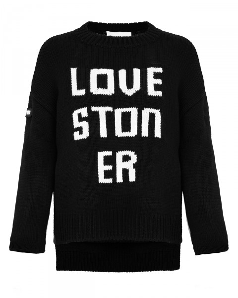 LOVE STONER KNIT SWEAT BLACK WOMEN