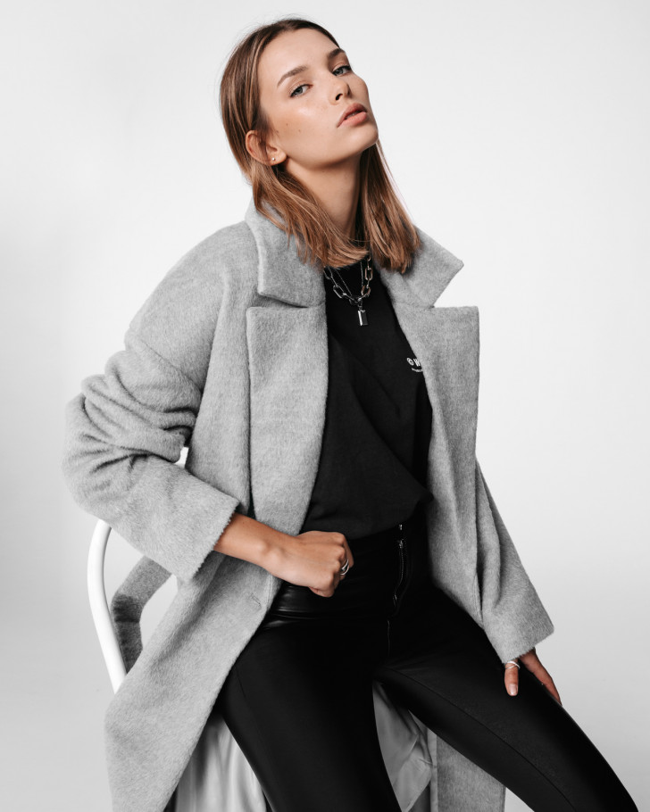 DAWN COAT GREY WOMEN