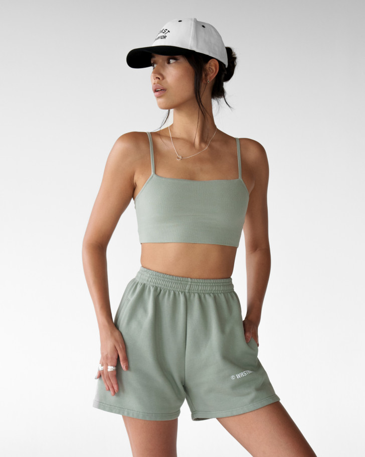 ANA TOP SILVERED OLIVE WOMEN
