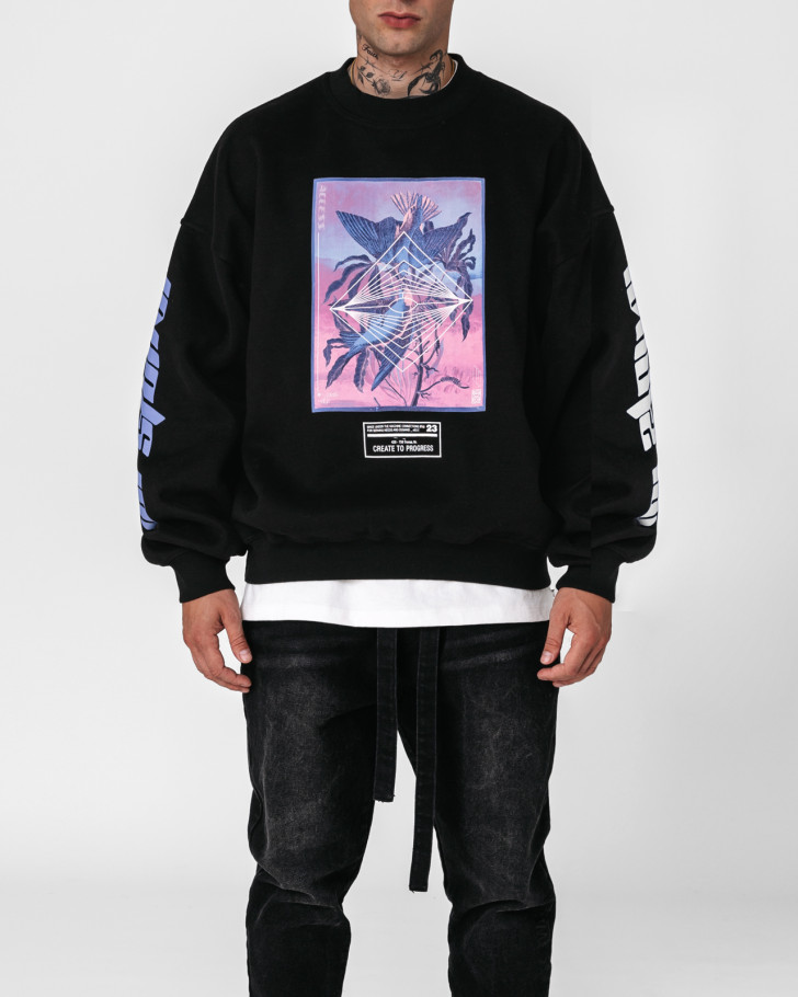 ACCESS SWEATER BLACK MEN