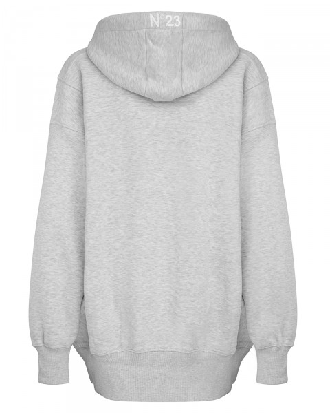 ERROR HOODIE DRESS GREY WOMEN