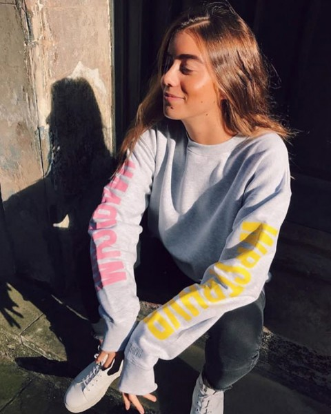 RAINBOW CREWNECK GREY WOMEN