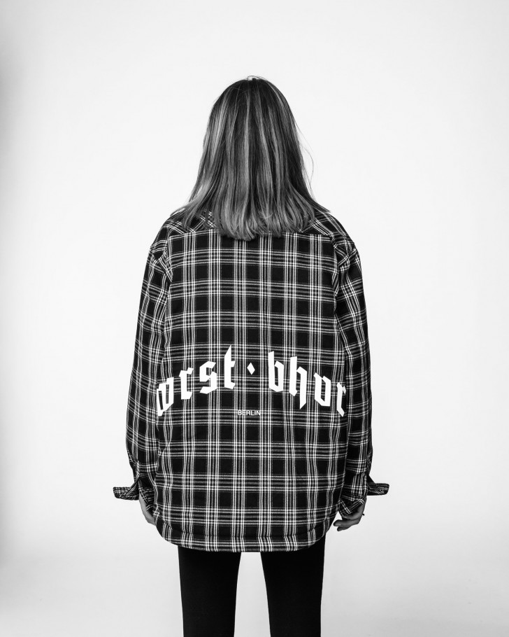 LEO OVERSHIRT BLACK CHECKED WOMEN