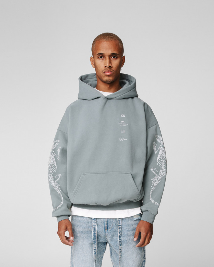 DIE OUT HOODIE SAGE GREEN WASHED MEN