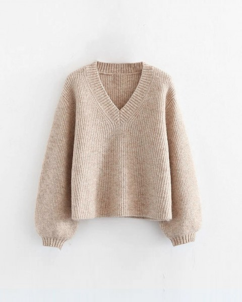 DAPHNE KNIT SWEATER BEIGE