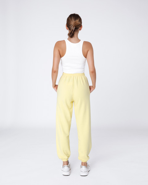 ZIA PANTS PASTEL YELLOW WOMEN