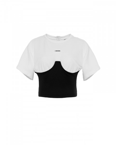 LENI TOP BLACK/WHITE WOMEN