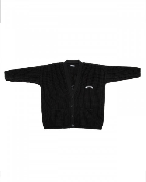 EMOTIONS KNIT CARDIGAN BLACK