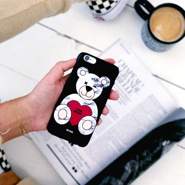MARBLE BEAR CASE BLACK