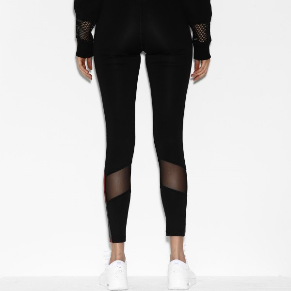 COURT LEGGINGS BLACK/RED WOMEN