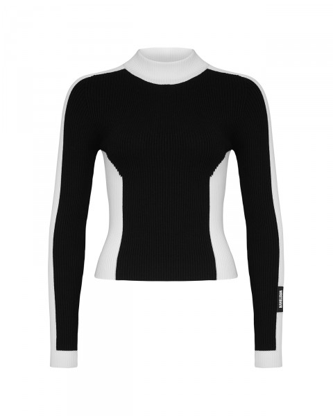 STILLER KNIT TOP BLACK WOMEN