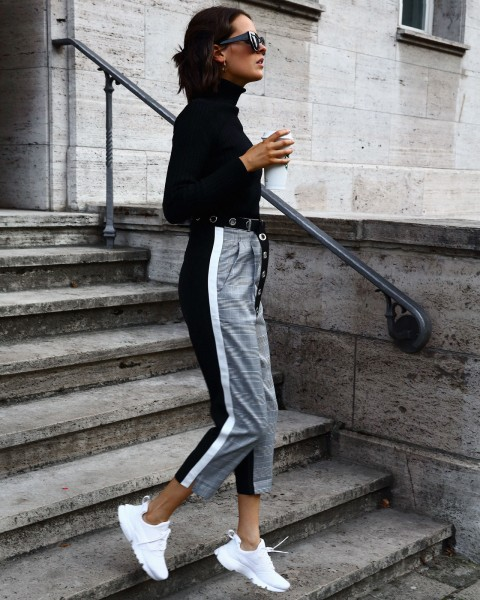 YANG PANTS GREY/BLACK WOMEN