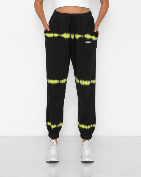 HANNA SWEATPANTS BATIK STRIPE BLACK