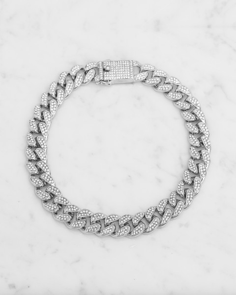 STELLA ICED OUT SILVER COLLIER