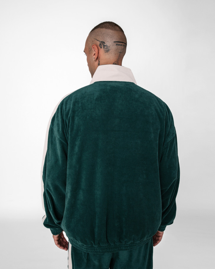 LOUNGIN TRACK JACKET FROTTEE GREEN MEN