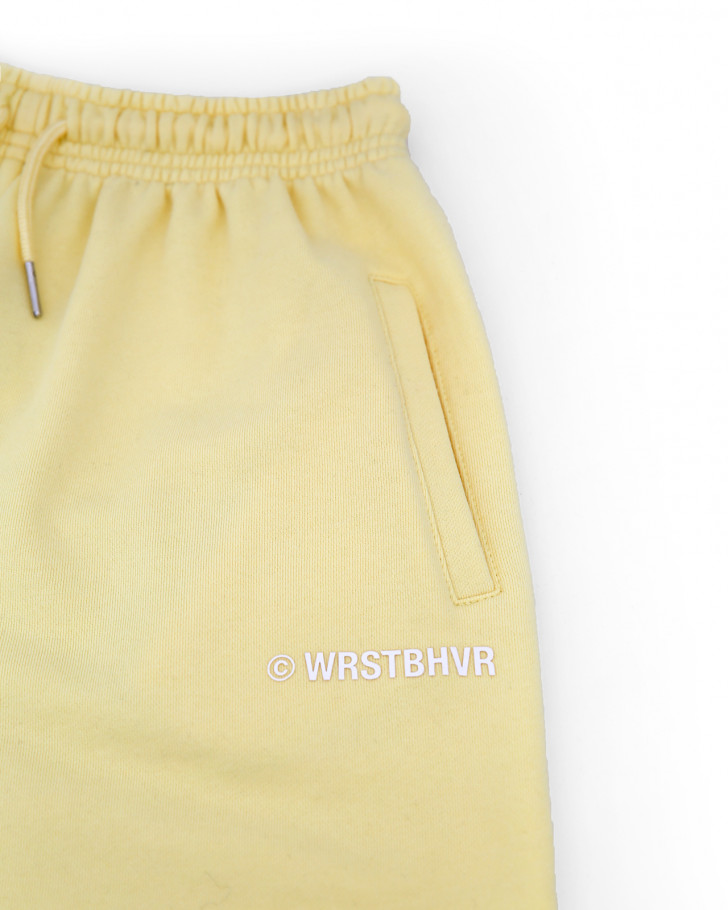 JUNE SHORTS PASTEL YELLOW WOMEN