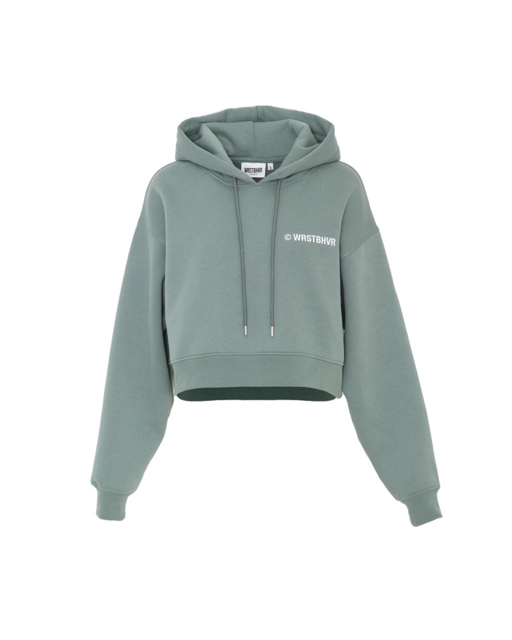FAITH HOODIE BOXY GREEN WOMEN