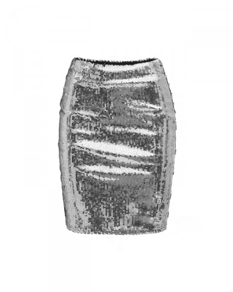 MILLY SKIRT SILVER