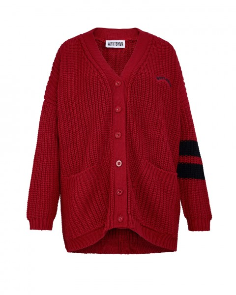 LOOKING FOR REVENGE CARDIGAN RED WOMEN
