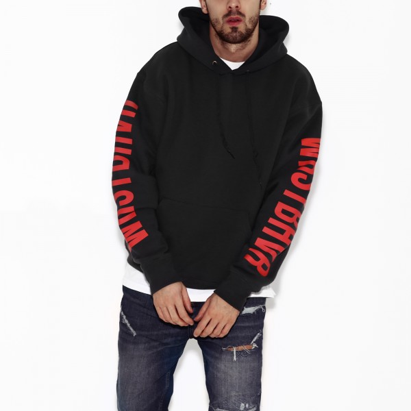 HELL HOODIE DARK GREY/RED MEN
