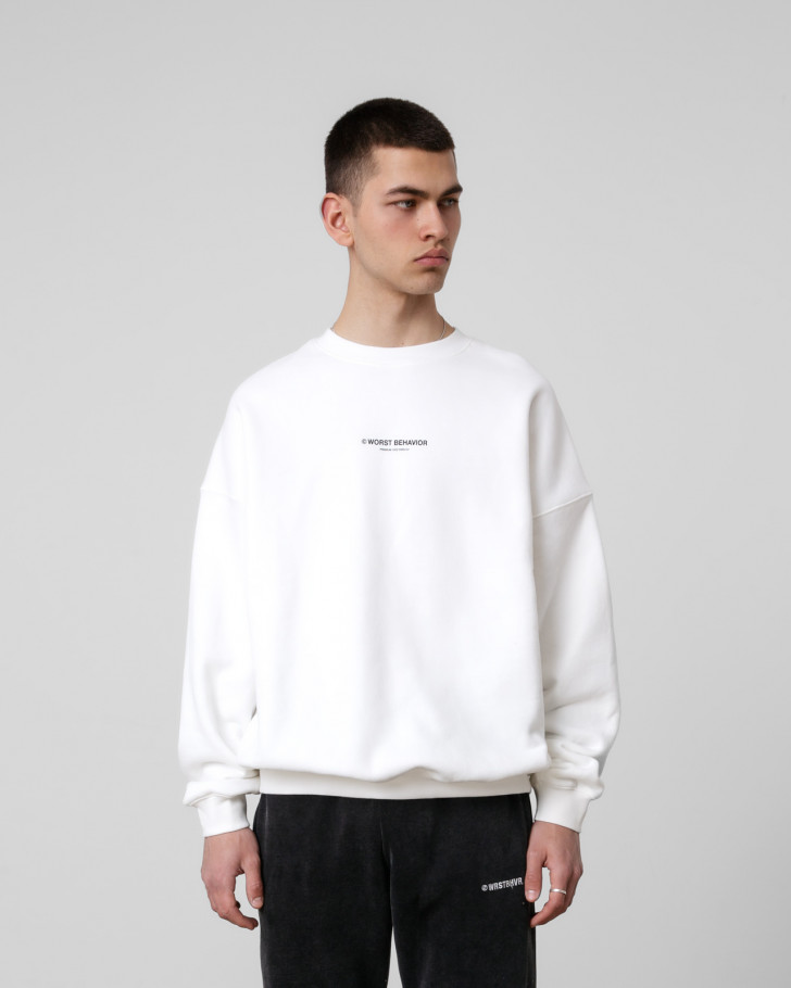WIDE SHUT SWEATER OFFWHITE