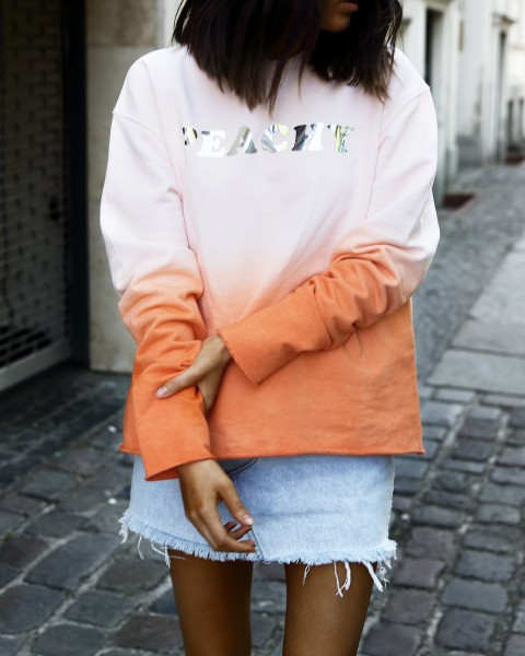 PEACHY SWEATER ROSE/ORANGE WOMEN