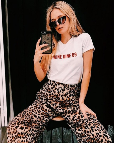 WINE DINE TEE WHITE WOMEN