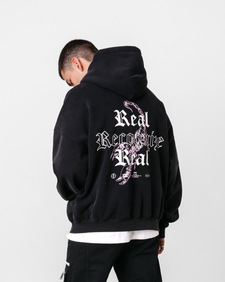 RECOGNIZE HOODIE BLACK WASHED