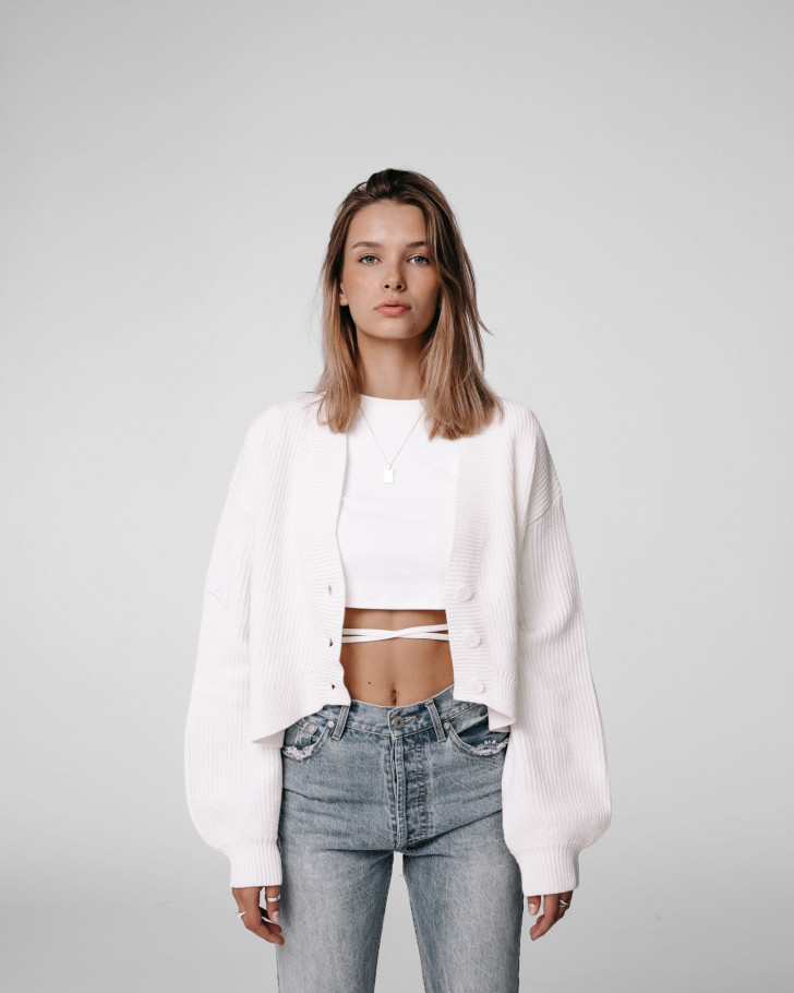 ZITA KNIT CARDIGAN OFFWHITE WOMEN