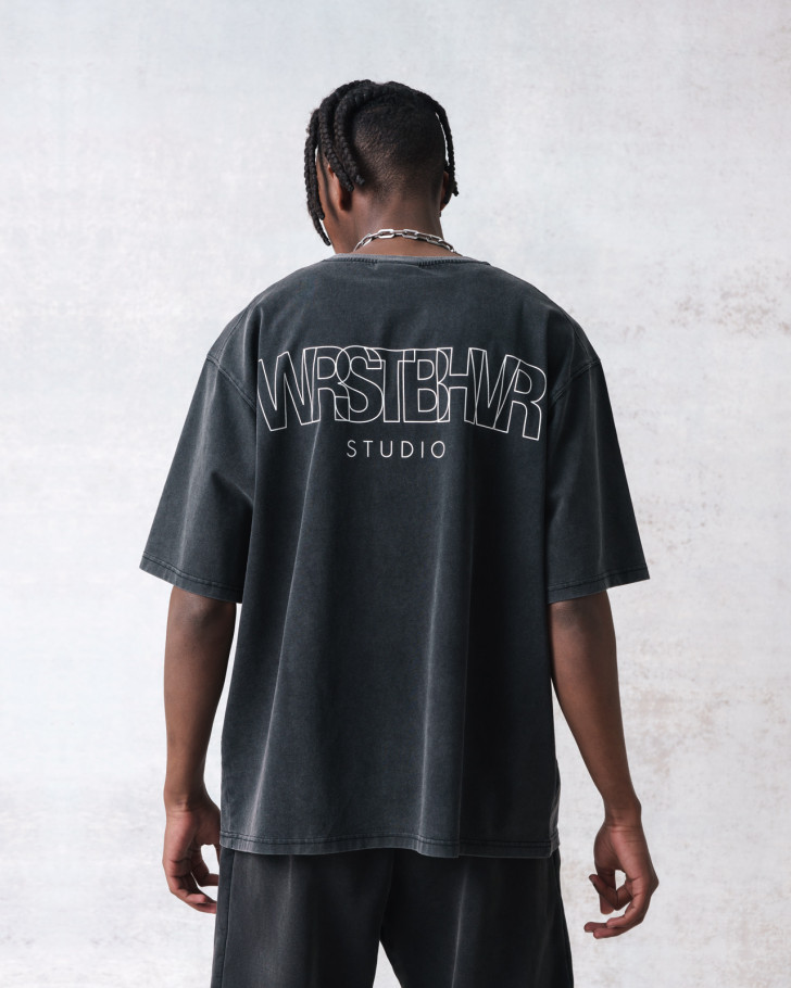 STUDIO V2 T-SHIRT VINTAGE BLACK