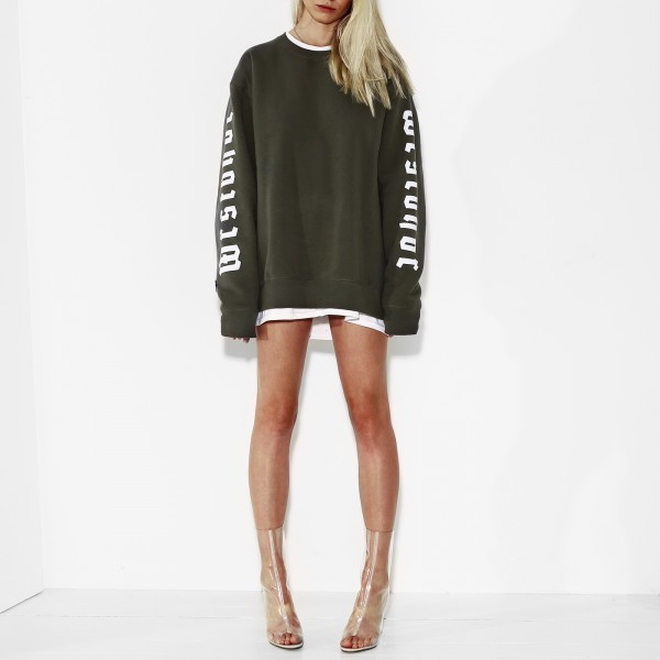 GREATEST CREWNECK OLIVE WOMEN