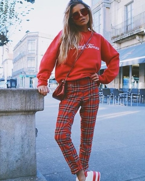 HARD TIMES SWEATER RED WOMEN