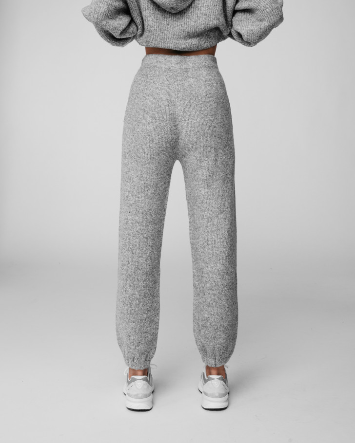 JENN KNIT PANTS GREY MELANGE WOMEN