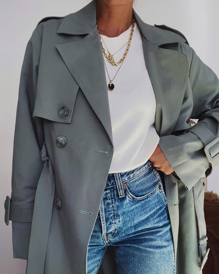 DRESSCODE TRENCHCOAT GREEN WOMEN