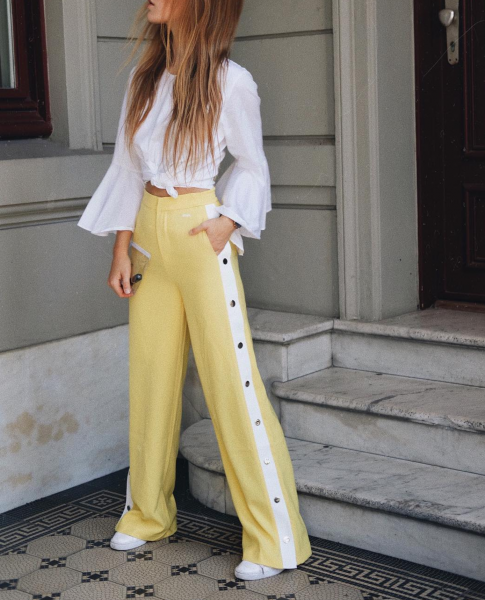 SKYWALK TRACK PANTS YELLOW WOMEN