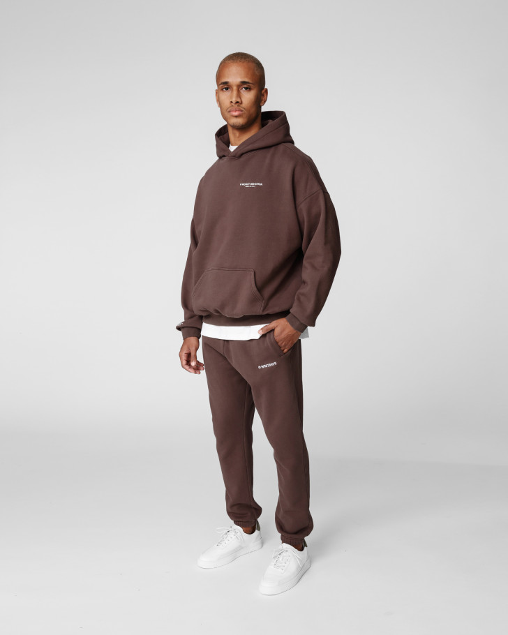 WARREN HOODIE CHOC WASHED MEN