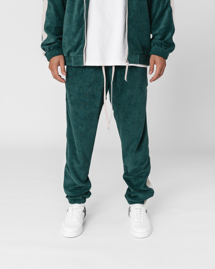 LOUNGIN TRACKPANTS FROTTEE GREEN MEN