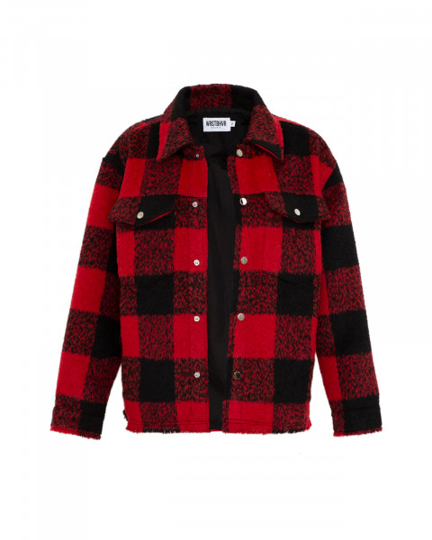 LEXI JACKET CHECKED RED