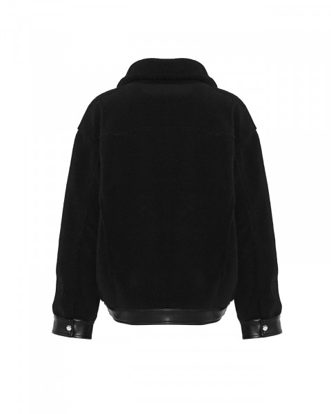 LEXI TEDDY JACKET BLACK