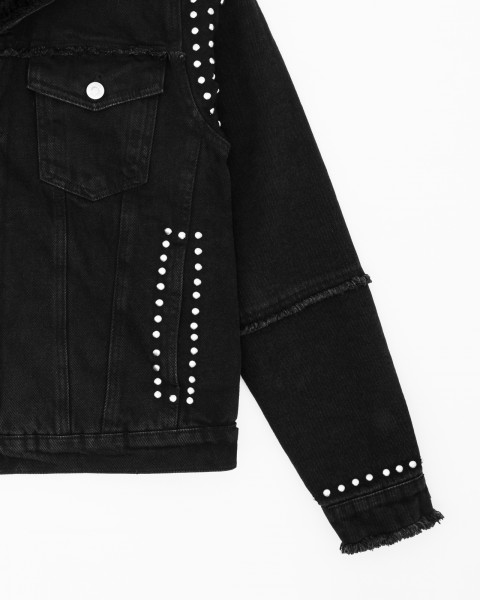 STAKEOUT DENIM JACKET BLACK WOMEN