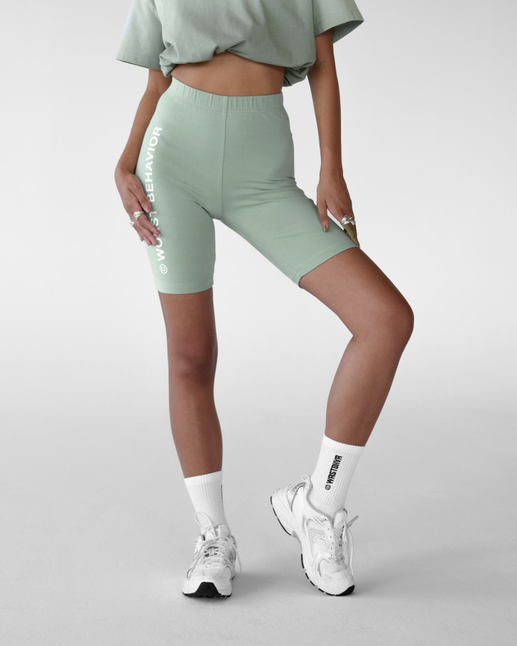 KASSY CYCLING SHORTS SILVERED OLIVE WOMEN