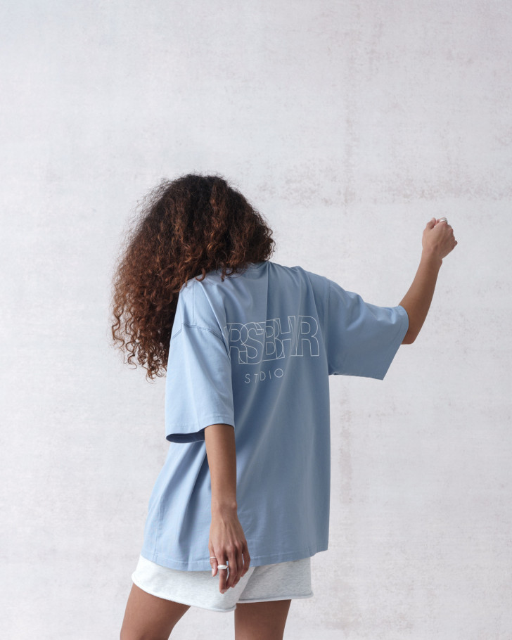 STUDIO V2 T-SHIRT SOFT BLUE WASHED
