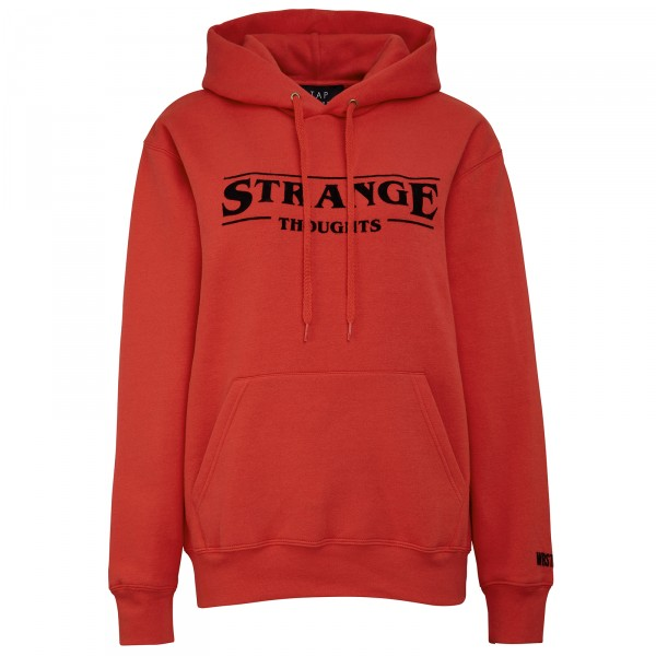 STRANGE THOUGHTS HOODIE RED WOMEN