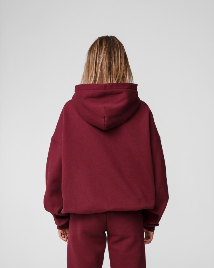 CRUSH HOODIE BURGUNDY WOMEN