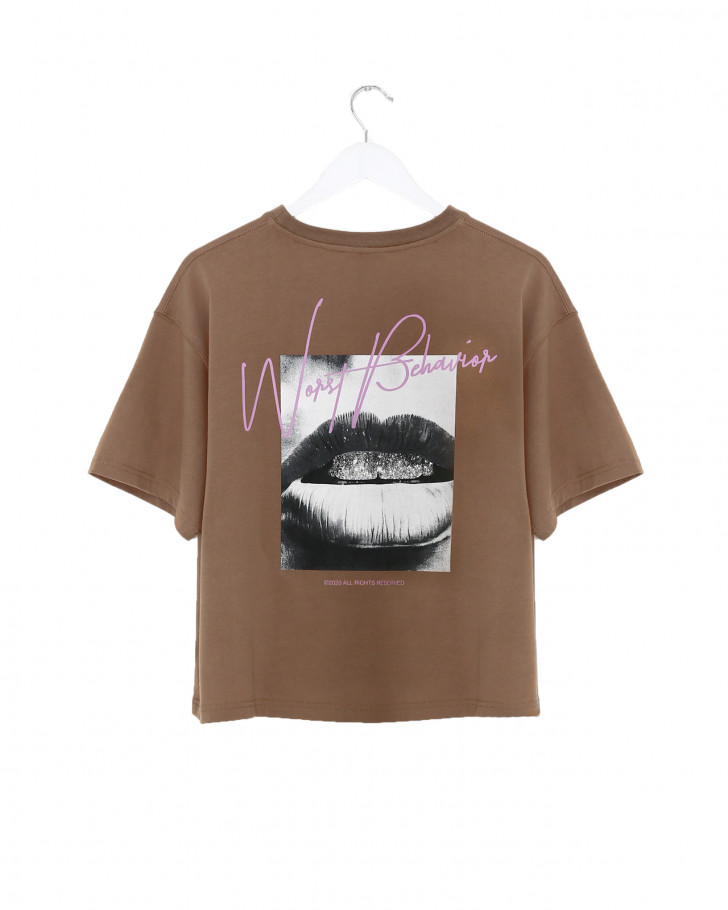 ROMY T-SHIRT CHOCOLATE BROWN WOMEN