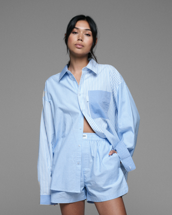 HECTOR SHIRT BLUE STRIPED