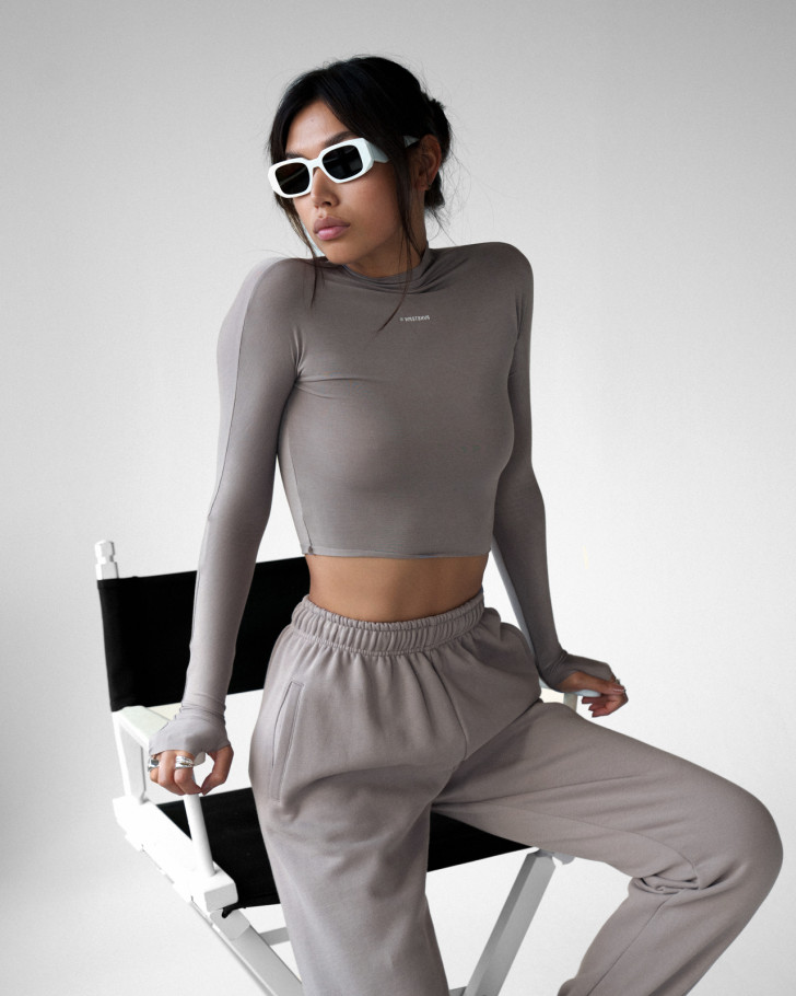 LACEY LONGSLEEVE TAUPE WOMEN