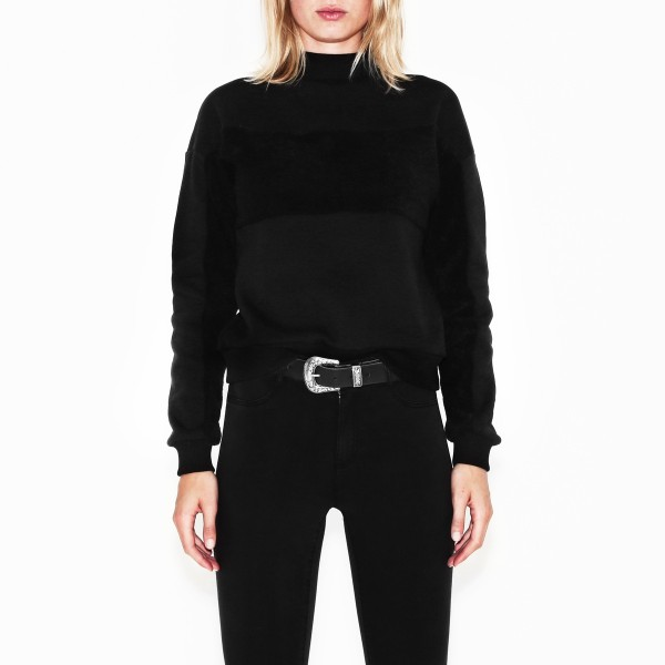 TRAVIS CREWNECK BLACK WOMEN