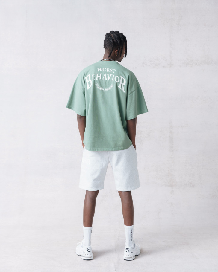 101 T-SHIRT SAGE GREEN WASHED